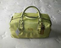 Coach LG Madison MINT GREEN Leather Sabrina Tote Bag Purse Satchel Handbag WOW