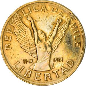 [#382501] Coin, Chile, 10 Pesos, 1989, Santiago, VF(20-25), Aluminum-Bronze