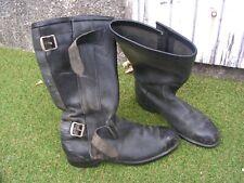 paire  bottes  moto    homme  t43  vintage !!!!   (shoes u)