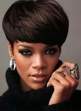 Rihanna Haircut Beautiful Wig Hair Straight and Smooth