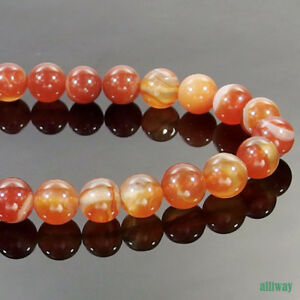 Stripes Agate Stone Round Spacer Beads 15.5'' 2mm 3mm 4mm 6mm 8mm 10mm 12mm DIY