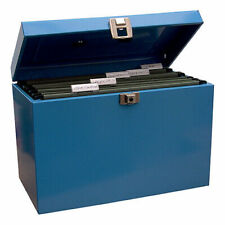 Cathedral A4 Metal File & Document Storage Box - Blue
