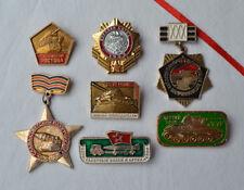 USSR Tank badge Lot 7x Soviet Military Battle machine T34 T70 WWII Russian pins