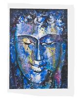 Peinture Da Budda Artista Noto Nepal Artigianale Capolavoro Unica 8486