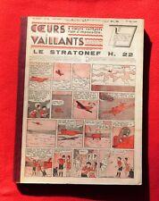 COEURS VAILLANTS année 1938 complète. N°1 à 52. Tintin mystère de l'avion gris