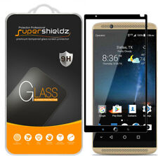 Supershieldz for ZTE Axon 7 Full Cover Tempered Glass Screen Protector (Black)