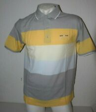 GCM Poloshirt Polohemd Polo Kurzarm Frühling grau gelb pastell Gr. XL/54