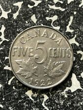 1922 Canada 5 Cents (8 Available) (1 Coin Only)