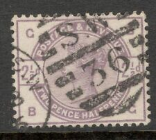 Queen Victoria - SG 190  - 2 1/2d. Lilac - Used ( ₤15.00 ) Letters B G