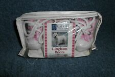 Set East Side Collection Gingham Dog Boots - Pink  Size XXSmall