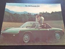 Vintage Original Large VW-Porsche 914 Brochure Catalogue 70's. English.