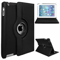 Case Cover For iPad Mini 1 2 3 4 Leather 360 Degree Rotating Smart Stand luxury