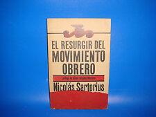 Libro Nicolás Sartorius. El Resurgir del Movimiento Obrero