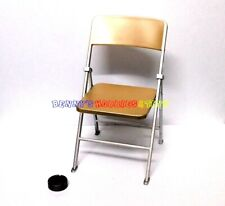 """1 x New 1/6 Scale Furniture Chair For Barbie Doll & 12"""" Action Figures - Gold"""