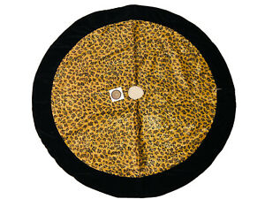 48 In Black Gold Leopard Christmas Tree Skirt