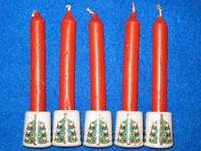Vintage Christmas Tree Design West Germany Christmas Candle Stick Holders