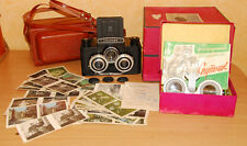 SPUTNIK STEREO Medium format Camera Stereo viewer. Box. set of stereo pictures