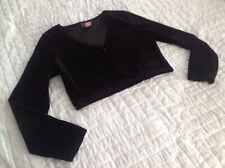 Status Collection Womens Bolero Short Jacket Size Large Black TAC