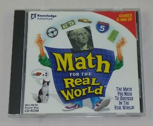 Knowledge Adventure Math For The Real World Educational CD-Rom - 1998