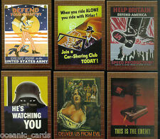 MILITARY PROPAGANDA POSTERS TRADING CARD PREVIEW SET TRADING CARDS by CULT STUFF