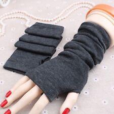 Lady Arm Unisex Knitted Soft Hot Wool Women Long Gloves Warm Mitten Fingerless