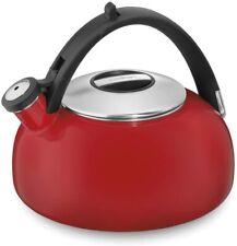 Cuisinart CTK-EOS2R Peak Porcelain Enamel on Steel Tea Kettle, Red