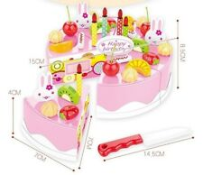 Pink 38pcsBirthday Cake Set Pretend Play For Kids Kitchen Play Food Toy WH3