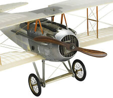 "WWI Spad Transparent Biplane Hanging Airplane Wood Model 24"" Home Decor"