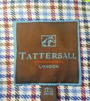 TATTERSALL SHIRT.  17 1/2, 34-35.  COTTON.  GUC.    617
