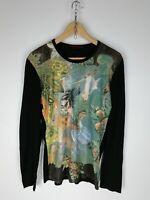 ROBERTO CAVALLI Maglia Maniche Lunghe Polo Shirt  Maglia Tg 52 Donna Woman