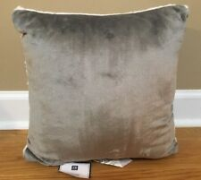 "NEW Pottery Barn Teen Ultra Plush Super Soft 16"" Pillow GRAY + IVORY"