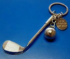 Personalised golf club & ball Keyring golfer gift golf gift golfer birthday gift