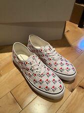 Number Nine I Love N(N) Heart Canvas Sneakers White Vans 10 DS