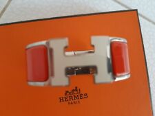 HERMES Bracelet Clic Clac H  20mm Orance vintage