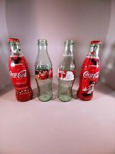lot of 4 christmas coke bottles santa mickey mouse