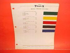 1936-1954 MACK TRUCK PAINT CHIPS 1937 1938 1939 1940 1941 1942 1946 1947 1948