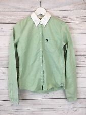 Women's Abercrombie & Fitch Shirt - Small UK10 - Green - Great Condition