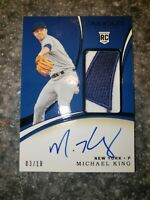 2020 Panini Immaculate Collection Michael King Auto Logo Jersey Patch /10 RC RPA