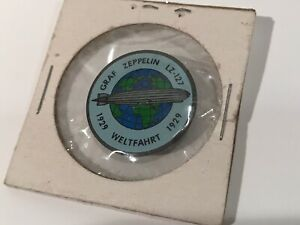 Rare 1929 Vintage German Graf Zeppelin World Tour Badge Pin LZ-127 Weltfahrt