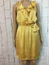 The Limited Size 0  XS S Gold Sleeveless Cocktail  Dress Satin Party Summer H1