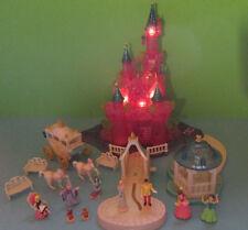 Polly Pocket Mini Disney ♥ Cinderella Fairytale Castle ♥ Lots Accessories ♥ Light ♥