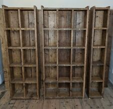 BOOKCASE big books folders library home office reclaimed wood industrial rustic