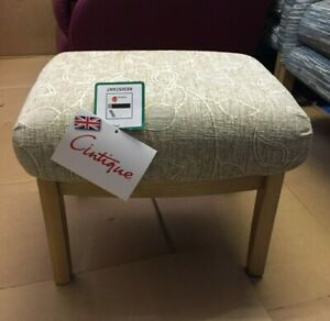 Cintique Footstool in Leaf Champagne