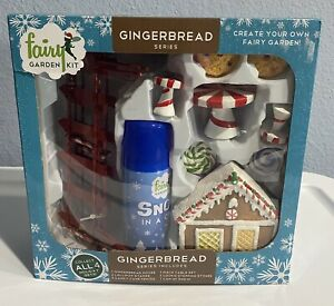 Fairy Garden Kit Gingerbread Series 14 pieces Christmas Snow in a Can