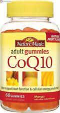 Nature Made CoQ10 Adult Gummies Mango 60 Count