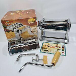 Marcato Atlas Model 150 Pasta Set Machine Chrome Boxed Made In Italy
