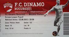 TICKET UEFA EL 2012/13 Dinamo Bukarest - Metalist Charkiw Kharkiv