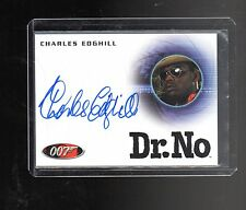 2014 James Bond Archives Charles Edghill auto card