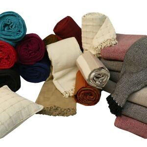 Luxury Large 100% Cotton Sofa / Bed Throw, Cushions Available Seperately