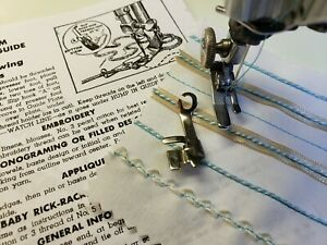 Vintage Embroidery Guide fits Singer Presser Foot ~  Featherweight 221 Tested!